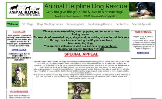 Animal Helpline Dog Rescue, Peterborough