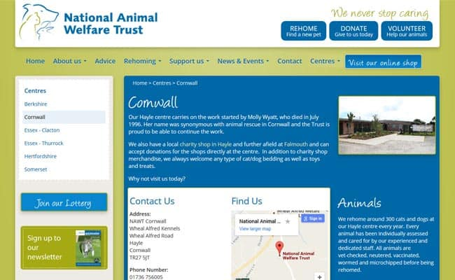 National Animal Welfare Trust Hayle, Hayle