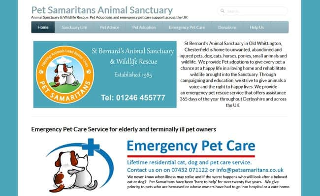 Pet Samaritans Animal Sanctuary, Chesterfield
