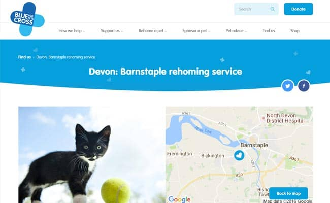 Blue Cross Rehoming Service, Barnstaple
