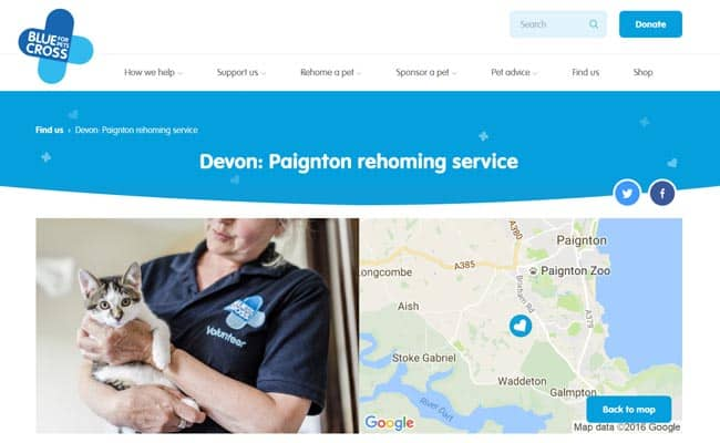Blue Cross Rehoming Service, Paignton