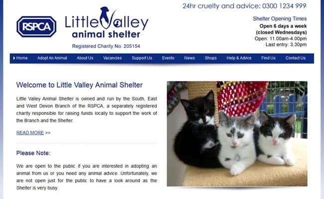 RSPCA Little Valley Animal Shelter, Exeter