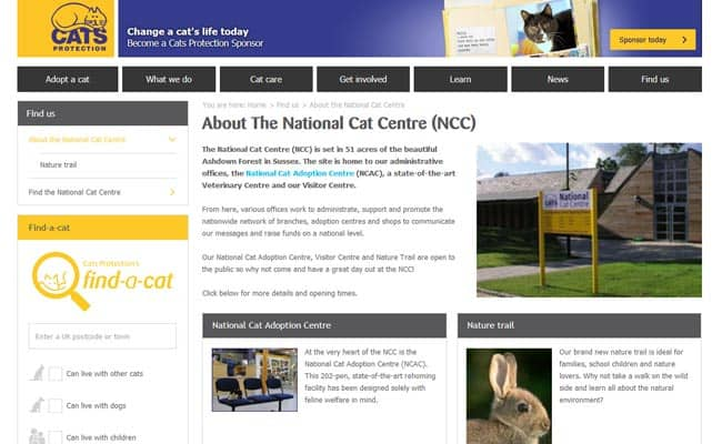 Cats Protection National Centre, Haywards Heath