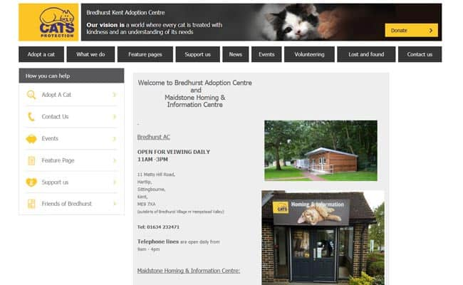 Cats Protection Bredhurst Adoption Centre