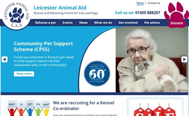 Leicestershire Animal Aid Association, Leicester