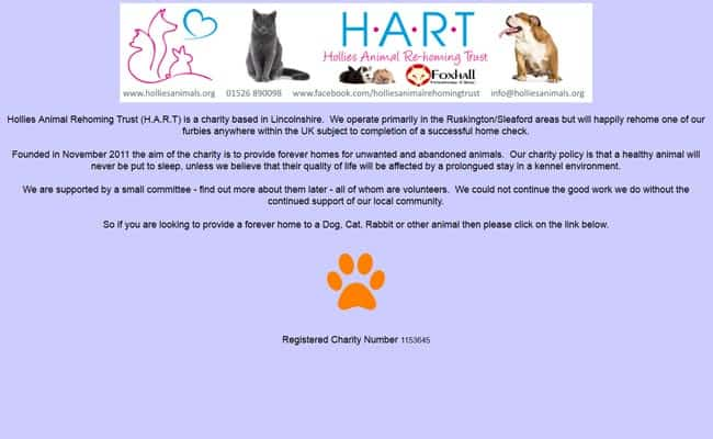 Hollies Animal Rehoming Trust, Sleaford
