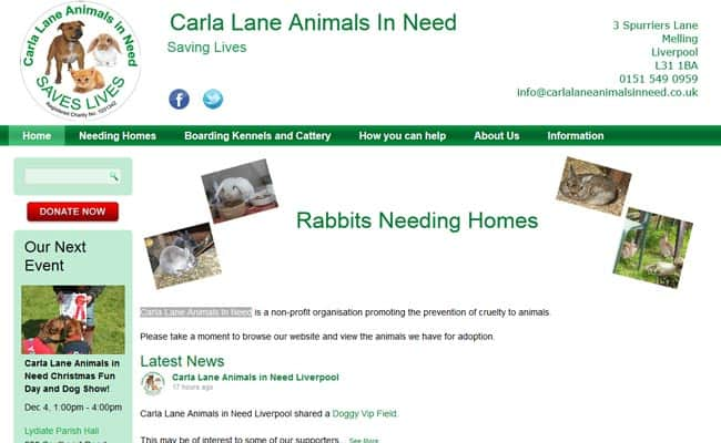 Carla Lane Animals In Need, Liverpool