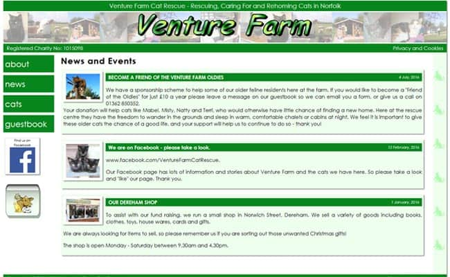 Venture Farm Cat Rescue, Dereham