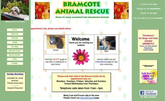 Bramcote Animal Rescue, Nottingham