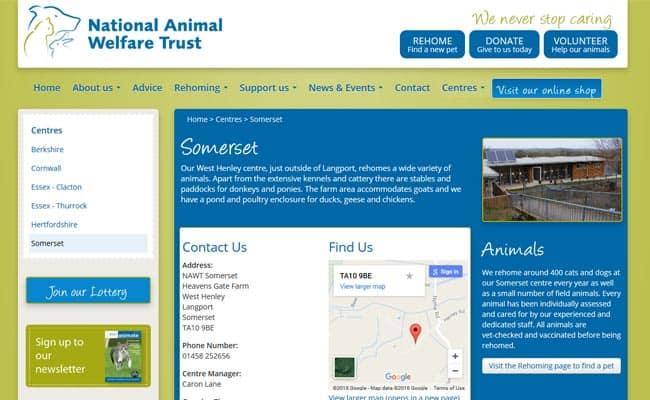 National Animal Welfare Trust, Langport
