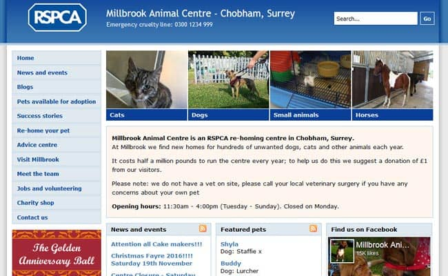 RSPCA Millbrook Animal Centre, Chobham