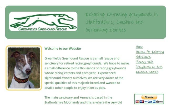 Greenfields Greyhound Rescue, Oswestry