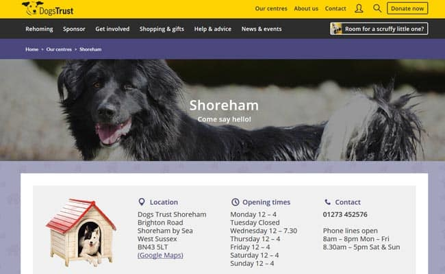 Dogs Trust Rehoming Centre, Shoreham