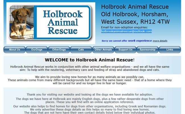 Holbrook Animal Rescue, Horsham