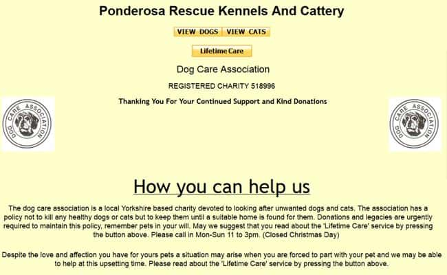 Ponderosa Dog Care Association, Castleford