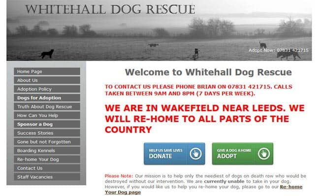 Whitehall Dog Rescue, Wakefield